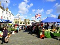 Boston Market. The outdoor market at Boston, Lincolnshire, England, UK Royalty Free Stock Photos