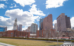 Boston Masachusetts skyline Urban Scene Stock Image