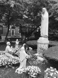 St. Leonard Peace Garden stock photo