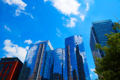 Boston in Massachusetts downtown buidings royalty free stock image
