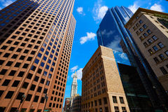 Boston in Massachusetts downtown buidings Stock Images