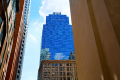 Boston in Massachusetts downtown buidings stock photo