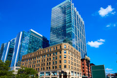 Boston Massachusetts downtown buidings Stock Image