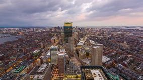Boston, Massachusetts Downtown Cityscape stock video