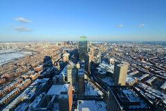boston massachusetts horisont USA Royaltyfria Bilder
