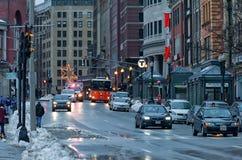 BOSTON, MASSACHUSETTS - JANUARY 04, 2014: Cityscape in Boston Royalty Free Stock Photography