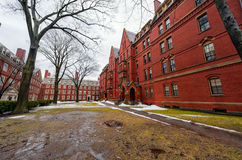 BOSTON, MASSACHUSETTS - JANUARY 06, 2014: Harvard Yard in Boston. Harvard University Area royalty free stock photos