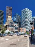 Boston, USA: Skyscrapers in Boston finacial district Royalty Free Stock Photo