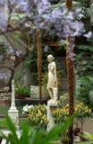 Antique statue of Roman goddess Artemis or Amazon in the Isabella Stewart Gardner Museum, Fenway park, Boston, Massachusetts royalty free stock photo