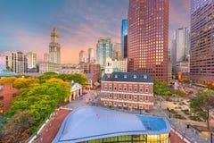 Boston, Massachusetts, mercados de los E.E.U.U. y paisaje urbano c?ntricos foto de archivo libre de regalías