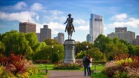 Boston Massachusetts Public Garden stock video footage
