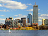 Boston Massachusetts Skyline Stock Photos