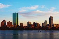 Boston, Massachusetts skyline at dusk Stock Photo