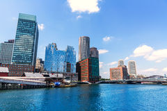 Boston Massachusetts skyline from Fan Pier Royalty Free Stock Photography