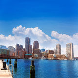Boston Massachusetts skyline from Fan Pier Royalty Free Stock Image