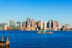 Boston Massachusetts skyline from Fan Pier Royalty Free Stock Photos