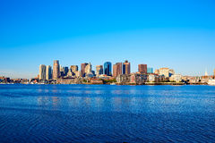 Boston Massachusetts skyline from Fan Pier Stock Photos