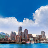 Boston Massachusetts skyline from Fan Pier Royalty Free Stock Images