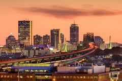 Boston, Massachusetts Skyline. Boston, Massachusetts, USA Skyline at dusk royalty free stock photo