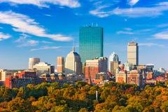 Boston, Massachusetts Skyline. Boston, Massachusetts, USA skyline over Boston Common royalty free stock photos