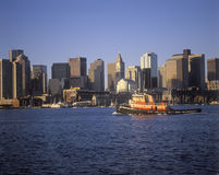 Boston Massachusetts skyline and waterfront view in the morning Stock Photography