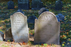 Boston Massachusetts spannmålsmagasingravplats Royaltyfri Fotografi