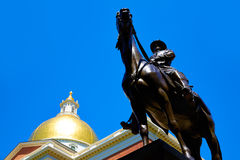 Boston Massachusetts State House and Hooker Stock Images