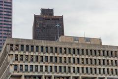 BOSTON MASSACHUSETTS, STYCZEŃ, - 04, 2014: Boston urząd miasta z wiatraczkiem na dachu Obraz Royalty Free