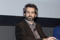 Ben Avishai. Boston, Massachusetts US - March 2013 - Ben Avishai writer and director of Whitey Bulger: The Making Of A Monster listening to question from panel Stock Image