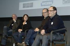 Panel Laughing at Response Royalty Free Stock Image
