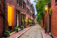 Boston, Massachusetts, USA. Acorn Street in Boston, Massachusetts, USA Stock Photo