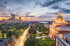 Boston, Massachusetts, USA. Cityscape with the State House Royalty Free Stock Image