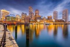 Boston, Massachusetts, USA Harbor Skyline Stock Images