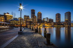 Boston in Massachusetts, USA. Boston harbor and Financial District in Massachusetts, USA Stock Photography