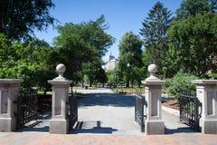 BOSTON, MASSACHUSETTS, USA - JULI 2,2016: Das allgemeiner Garten founde Lizenzfreies Stockfoto
