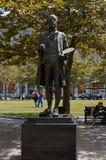 Boston Massachusetts, USA, 25 Juli 2009: Staty av John Singleton Copley Boston och London den stående målaren, medlem av royaltyfria foton