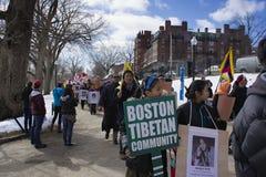 Boston tibetan gemenskap Royaltyfri Fotografi