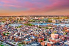 Boston, Massachusetts, usa North End fotografia stock