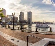 Boston in Massachusetts, USA. Panoramic view of the architecture of Boston in Massachusetts, USA at Back Bay Stock Photography