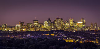 Boston in Massachusetts, USA. At sunset Stock Photo