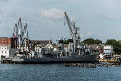 Boston Massachusetts usa 06 09 2017- USS Cassin Fletcher klasy Młodego niszczyciela Krajowy Historyczny punkt zwrotny Obraz Stock