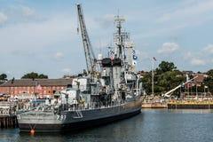 Boston massachusetts USA 06.09.2017- USS Cassin Young Fletcher class destroyer National Historic Landmark. Boston massachusetts USA 06.09.2017 - USS Cassin Young Stock Photo