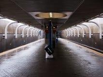 Boston MBTA station platform. MBTA subway station platform platform in Boston, Massachusetts Stock Photos