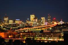 Boston miasta linia horyzontu fotografia royalty free