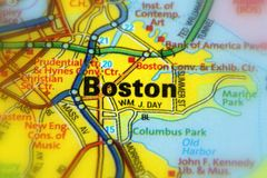 Boston, miasto w Massachusetts U S obrazy stock