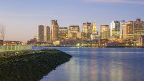 Boston. The mix of modern and historic architecture of Boston in Massachusetts, USA showcasing the Boston Harbor and Financial District Royalty Free Stock Image