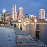 Boston. The mix of modern and historic architecture of Boston in Massachusetts, USA showcasing the Boston Harbor and Financial District Royalty Free Stock Images
