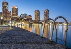 Boston. The mix of modern and historic architecture of Boston in Massachusetts, USA showcasing the Boston Harbor and Financial District Royalty Free Stock Photography