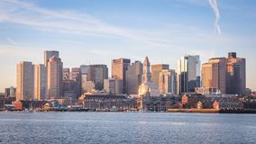 Boston. The mix of modern and historic architecture of Boston in Massachusetts, USA showcasing the Boston Harbor and Financial District Royalty Free Stock Photos