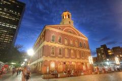BOSTON MOR - SEPT 9: Faneuil Hall, klassat nummer 4 i Amerika Fotografering för Bildbyråer